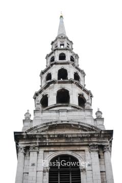 St. Bride's Church Belltower, Fleet Street, London, England (November 2008)