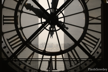 View from inside Musee D'Orsay, Paris, France (December 2008)