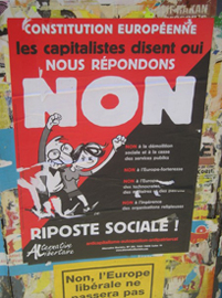 Political poster in France (2005)