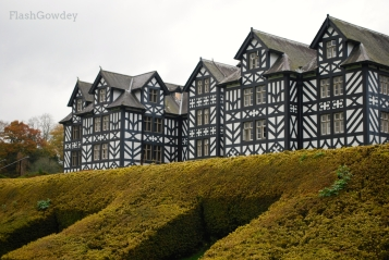 View from the lower garden, Gregynog Hall, Wales (October 2014)