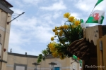 Daffodils, leeks, the Welsh flag and a surprisingly blue sky over Cardiff