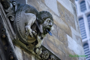 Tounge-tied. I swear we're speaking the same language. Gargoyles at Westminster Abbey, London