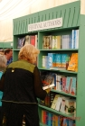 Festival-goers were able to purchase works by featured authors at the central bookshop.